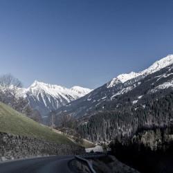 På väg hem från glaciären Hintertux.