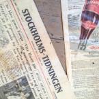Tidningar och golv i gamla farstun