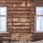 Mellan fönstren i norra ändan satt det ursprungliga fönstret.