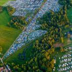 Campingen på Hultsfredsfestivalen
