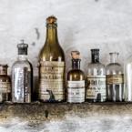Fina flaskor på hembygdsgården