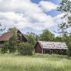 Vacker bebyggelse vid Nor