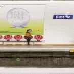 Resenär vid Bastille