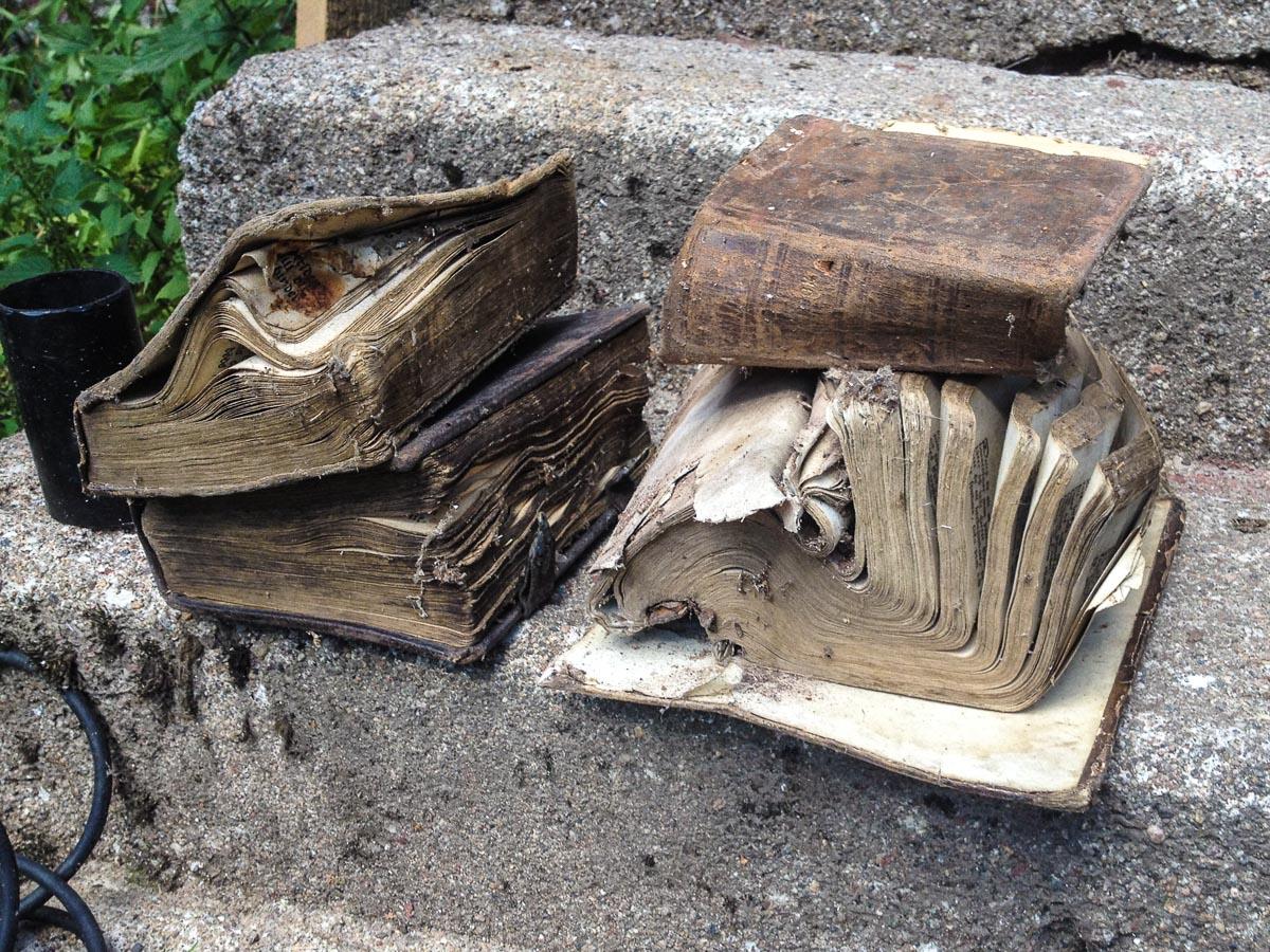 Böcker på trappan