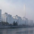 Dimman lättar