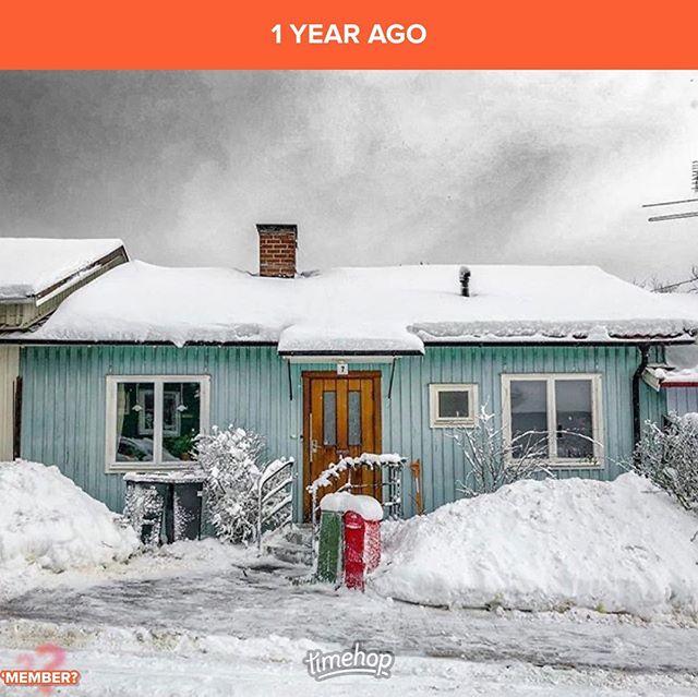 Ett år sedan.